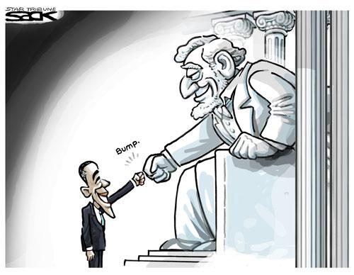 Lincoln fistbump