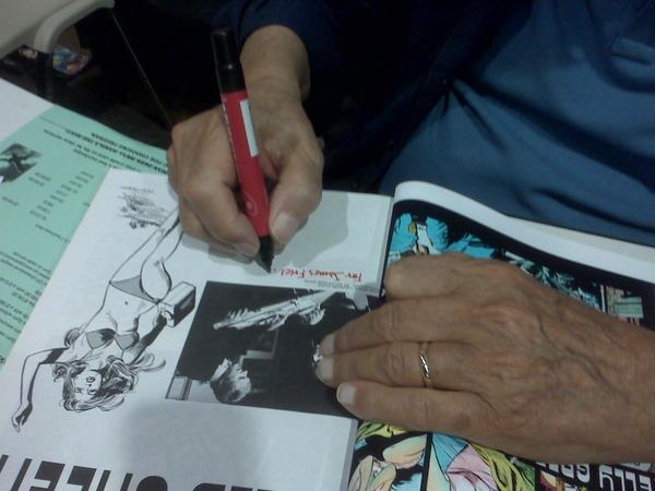 Leonard Starr signs